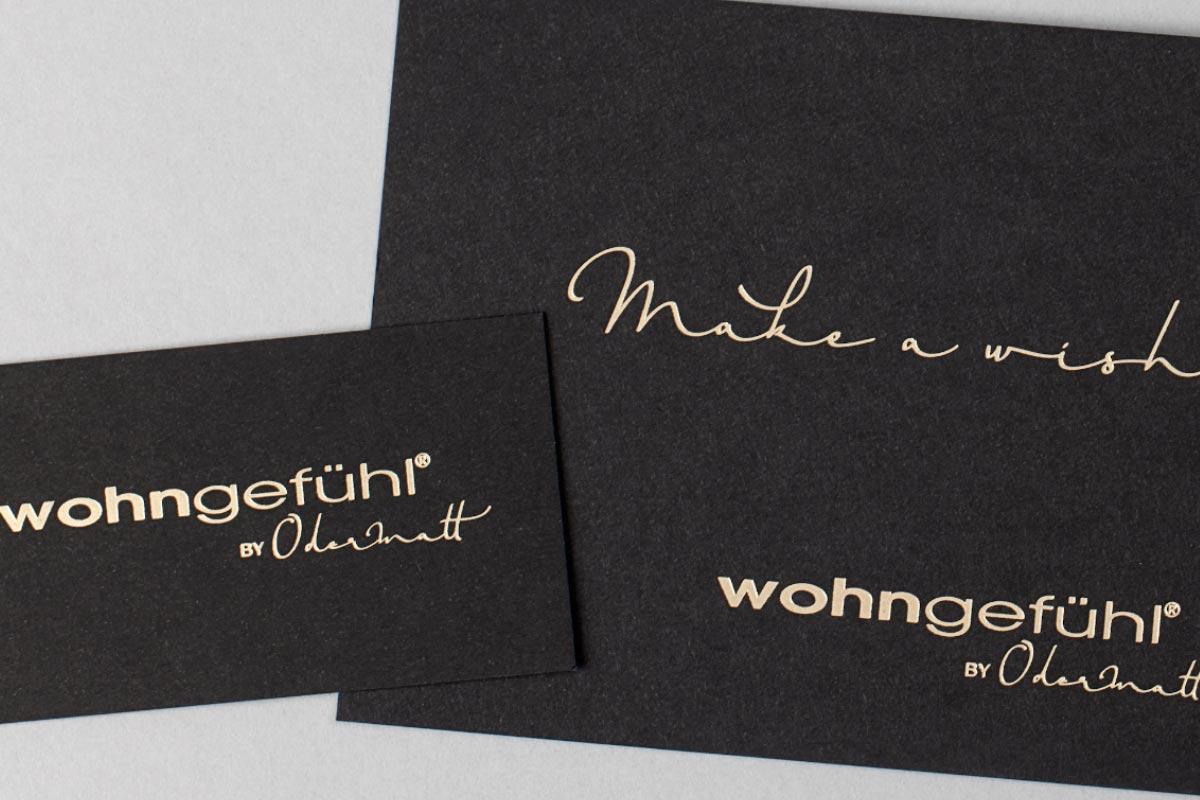 Visitenkarte Und Gutschein Für Wohngefühl Druckerei